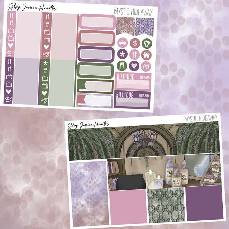 Mystic Hideaway Weekly Sticker Kit,  - Jessica Hearts