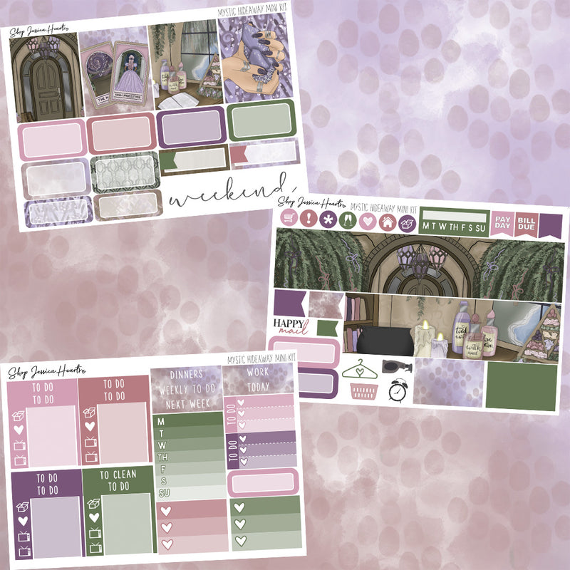 Mystic Hideaway Mini Weekly Sticker Kit,  - Jessica Hearts