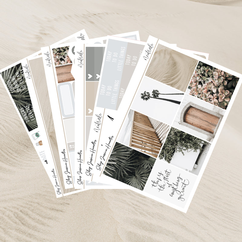 Neutrals Weekly Sticker Kit