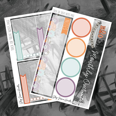 Trick or Treat October Notes Page Kit, Monthly/Notes Kits - Jessica Hearts