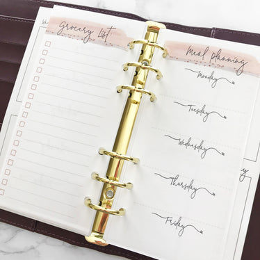 Personal Blush Meal Planning Inserts (Narrow)