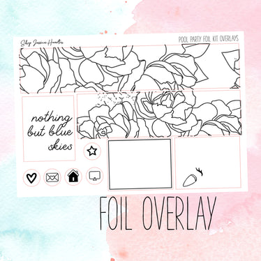 Pool Party Foil Overlay Sticker Sheet (Transparent)