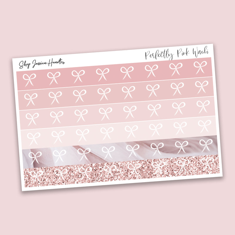 Perfectly Pink Washi Style Stickers