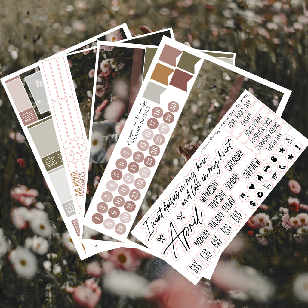 Picking Daisies BLANK April 2021 Monthly Kit + Foil Overlay