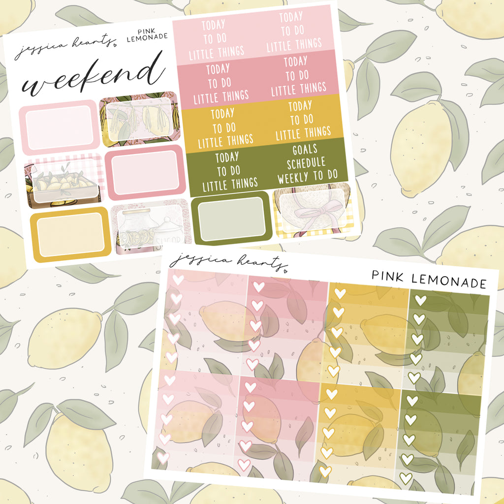 Pink Lemonade Weekly Sticker Kit