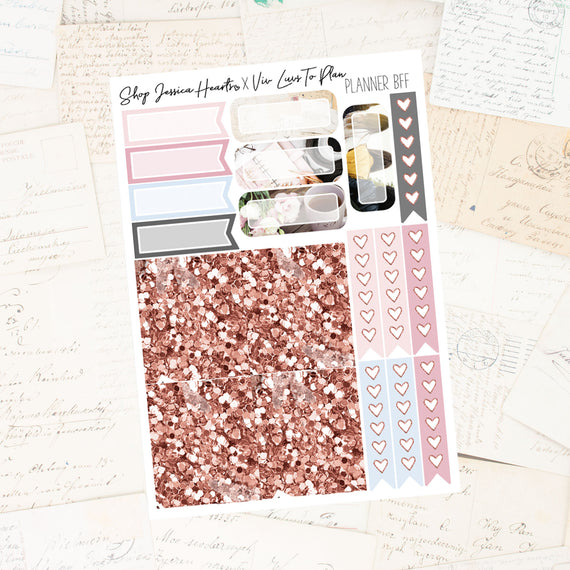 Planner BFF Ultimate Sheet / Collab with Viv Luvs To Plan, planner stickers - Jessica Hearts