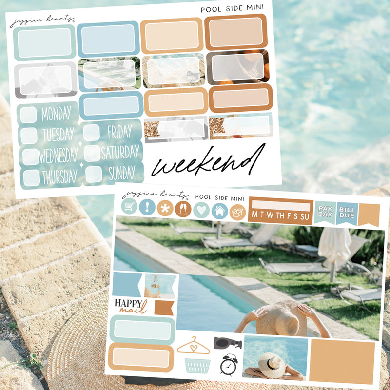 Pool Side MINI Sticker Kit