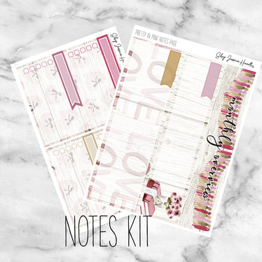 Pretty in Pink February Notes Page Kit, Monthly/Notes Kits - Jessica Hearts