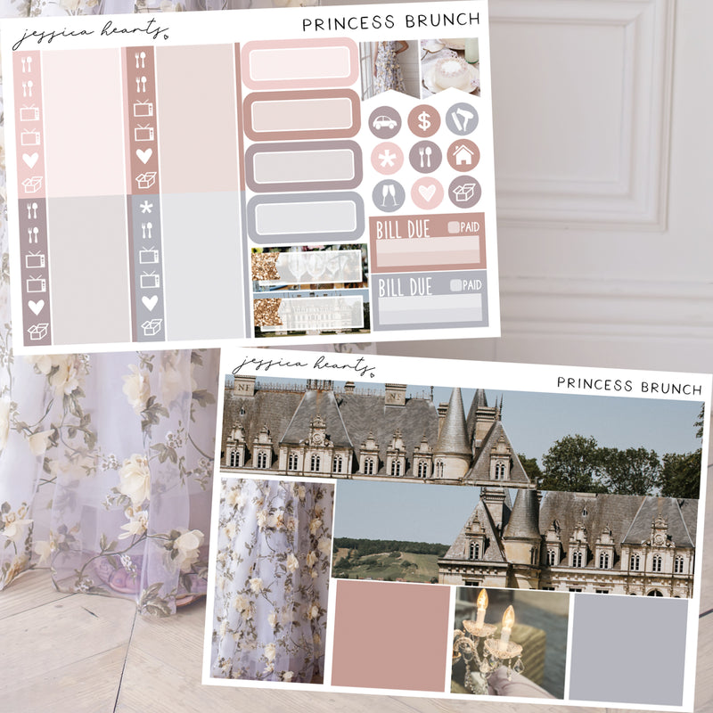 Princess Brunch Weekly Sticker Kit