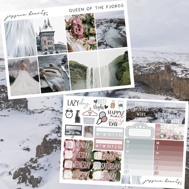 Queen of the Fjords Weekly Sticker Kit