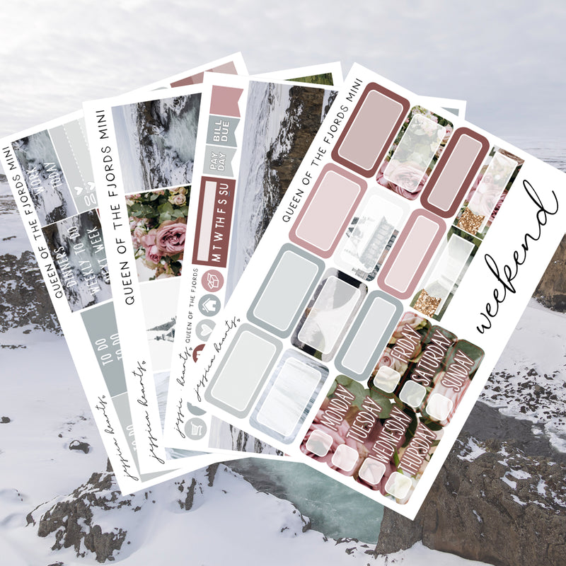 Queen of the Fjords MINI Sticker Kit