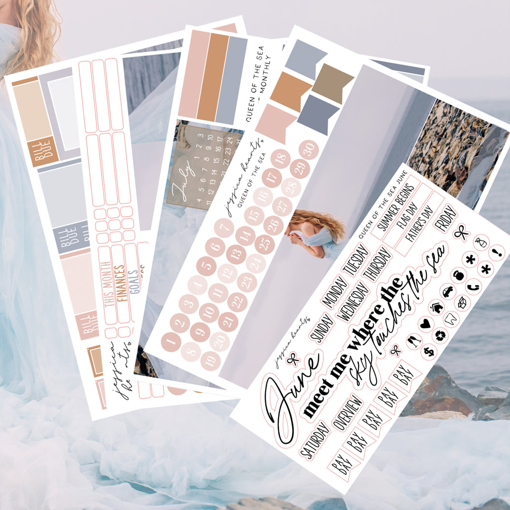 Queen of the Sea BLANK June 2021 Monthly Kit + Foil Overlay