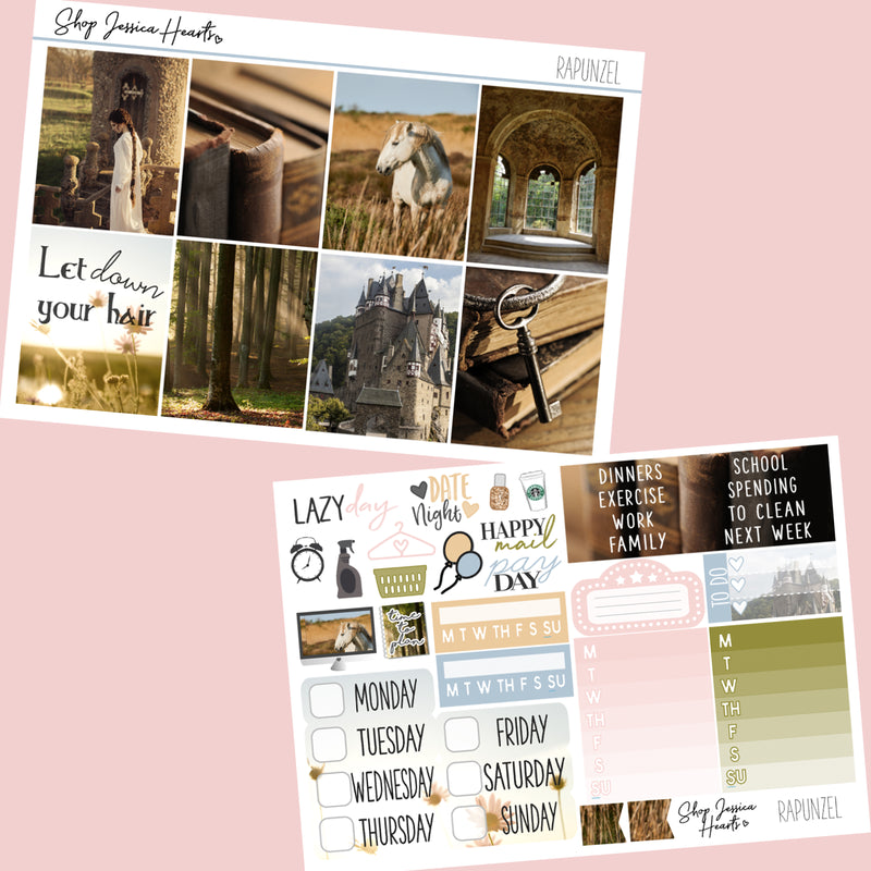 Rapunzel Weekly Sticker Kit