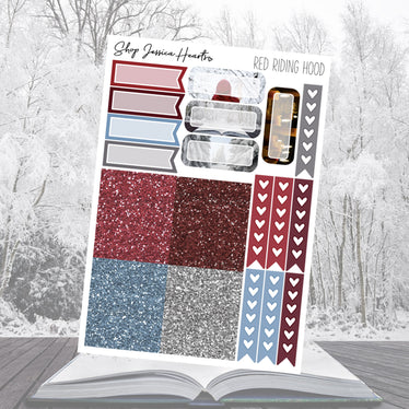 Red Riding Hood Ultimate Sheet, planner stickers - Jessica Hearts