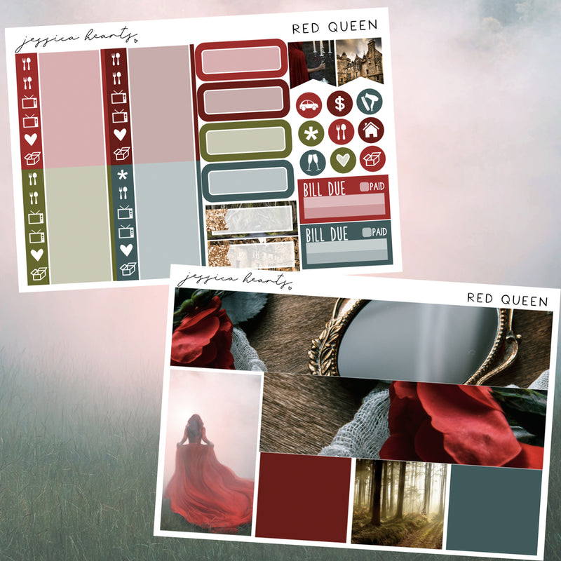 Red Queen Weekly Sticker Kit