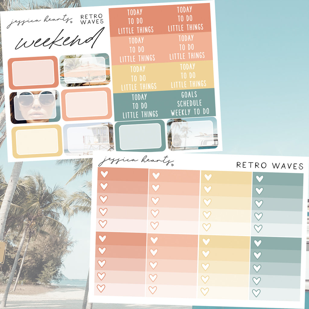 Retro Waves Weekly Sticker Kit