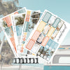 Summer Castle Foil Overlay Sticker Sheet (Transparent)