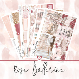 Rose Ballerine Weekly Sticker Kit