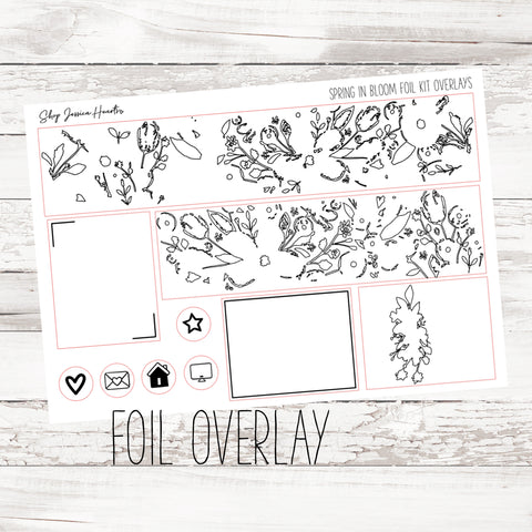 Foiled Work Overlay Stickers (Transparent)