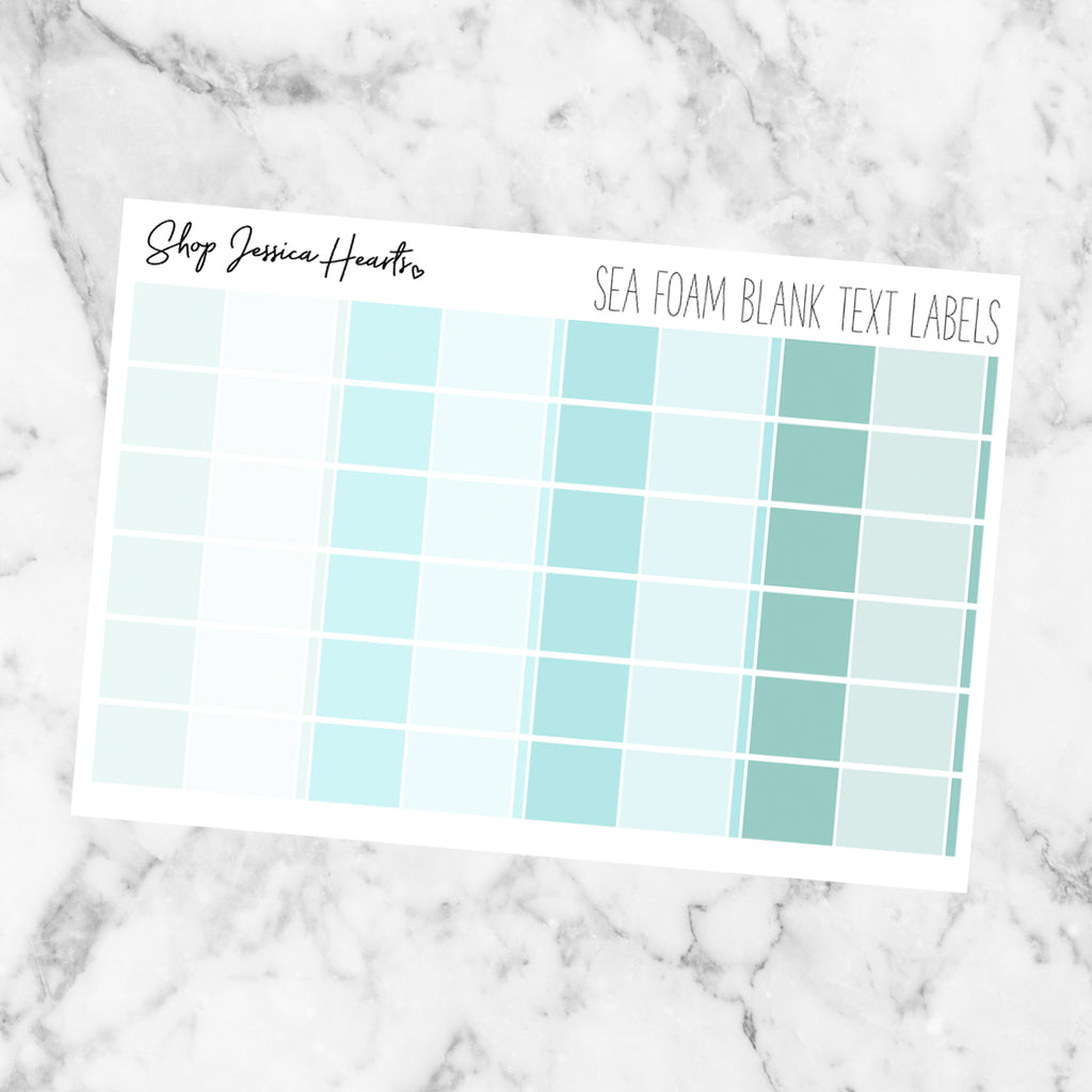 Seafoam Blank Text Labels (Perfect Pair with Foil)