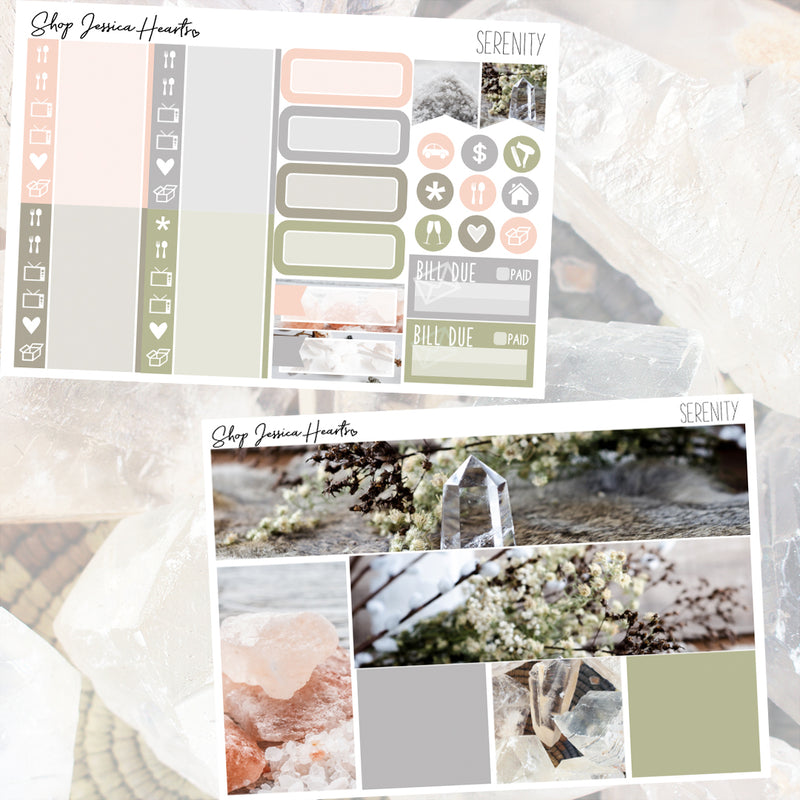 Serenity Weekly Sticker Kit,  - Jessica Hearts