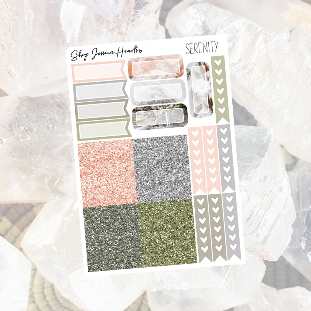 Serenity Ultimate Sheet, planner stickers - Jessica Hearts