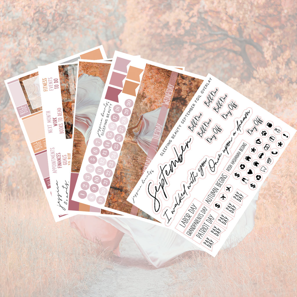 Sleeping Beauty BLANK September Monthly Kit + Foil Overlay