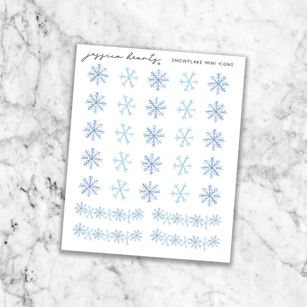 Snowflake Mini Icons (Transparent Matte Paper)