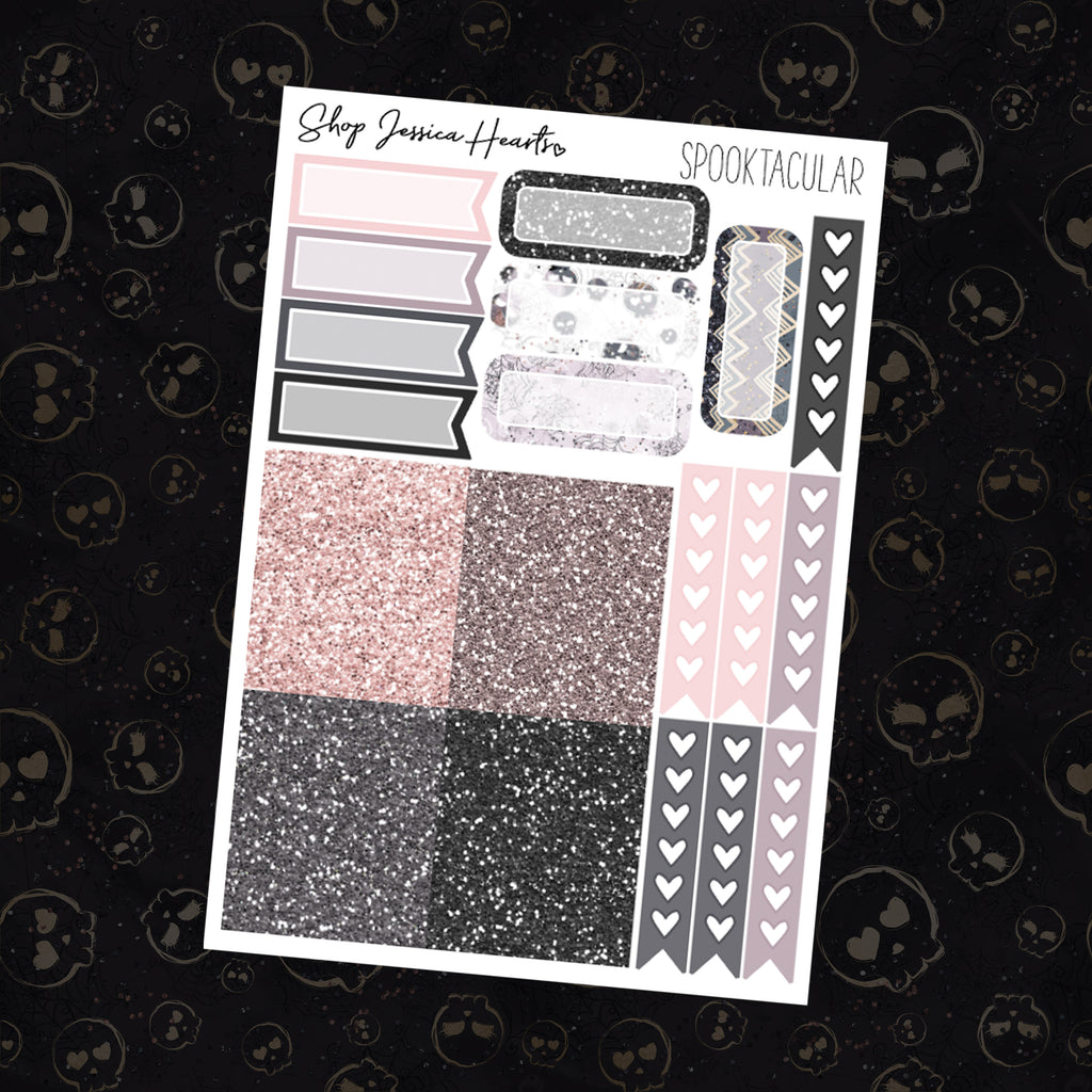 Spooktacular Ultimate Sheet, planner stickers - Jessica Hearts