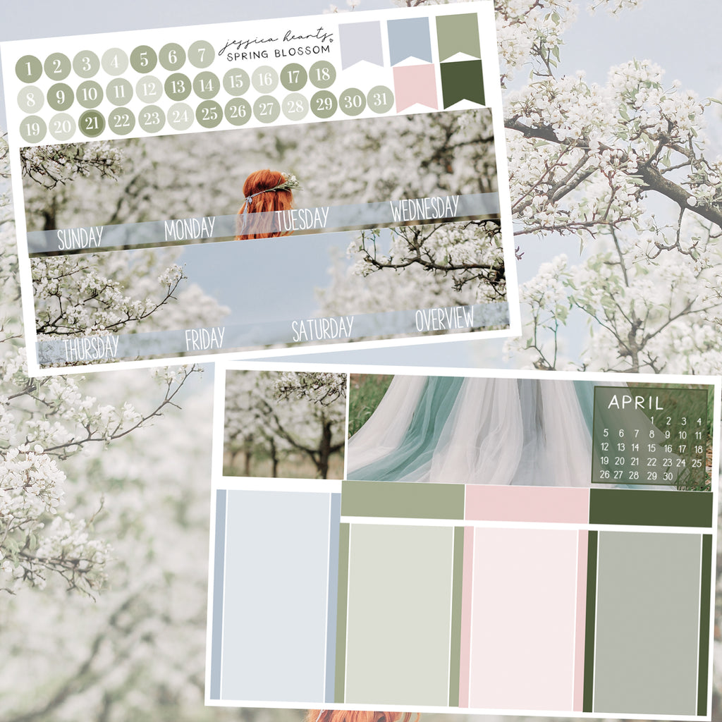 Spring Blossom BLANK March 2020 Monthly Kit + Foil Overlay