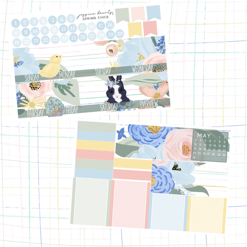 Spring Chick BLANK April 2020 Monthly Kit + Foil Overlay