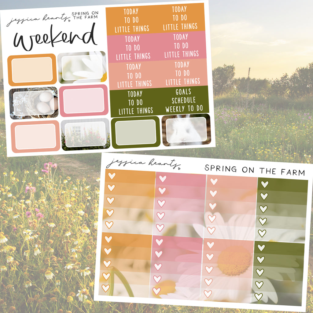 Spring on the Farm Weekly Sticker Kit