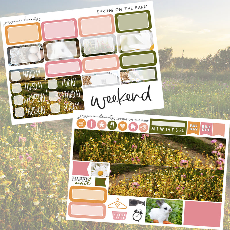 Spring on the Farm MINI Sticker Kit