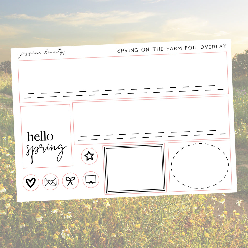 Spring on the Farm Foil Overlay Sticker Sheet (Transparent)