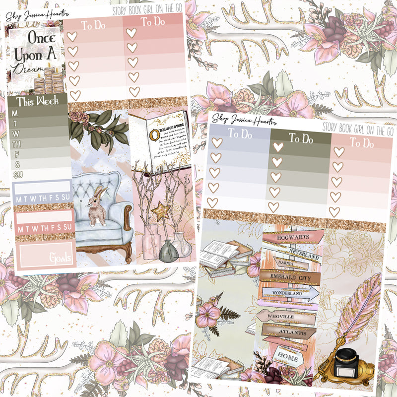 Story Book (Girl On the Go Planner Sticker Kit),  - Jessica Hearts