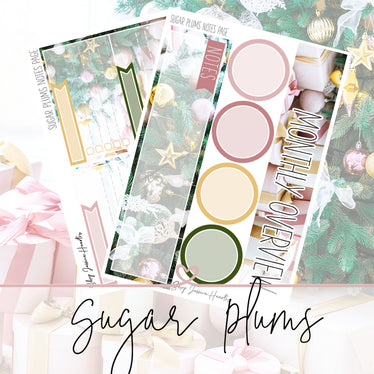 Sugar Plums December Notes Page Kit, Monthly/Notes Kits - Jessica Hearts