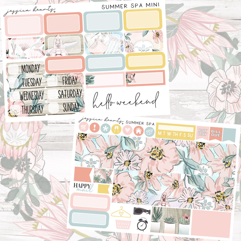 Summer Spa MINI Sticker Kit