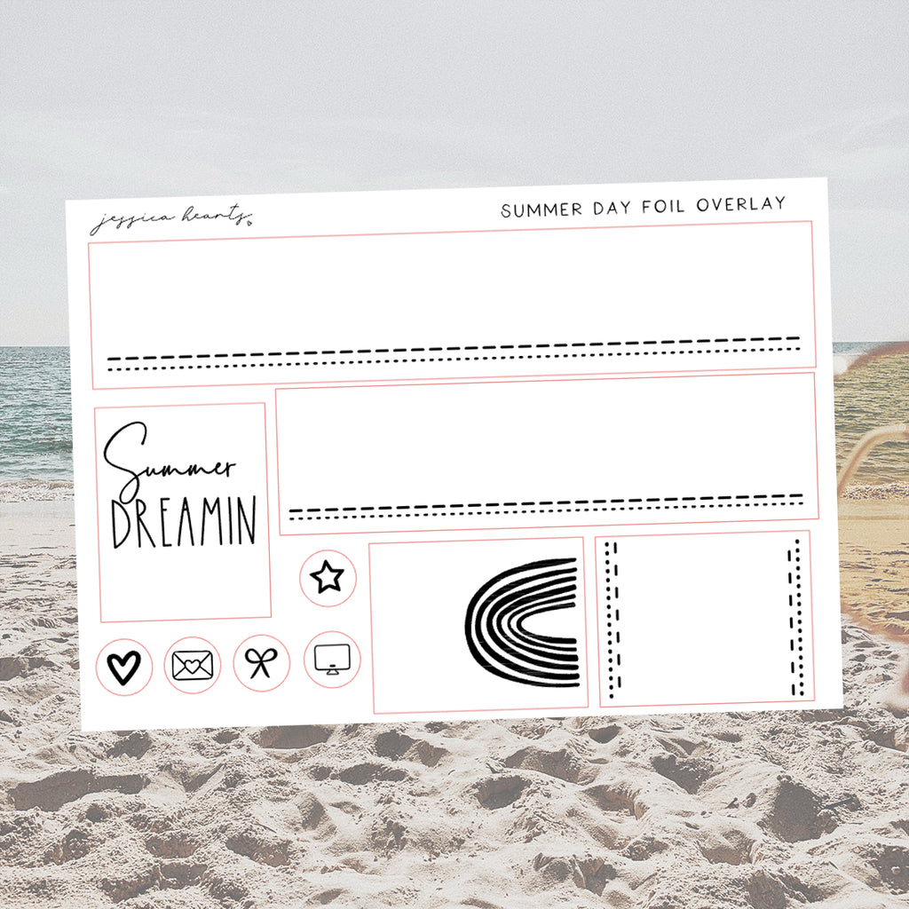Summer Day Foil Overlay Sticker Sheet (Transparent)