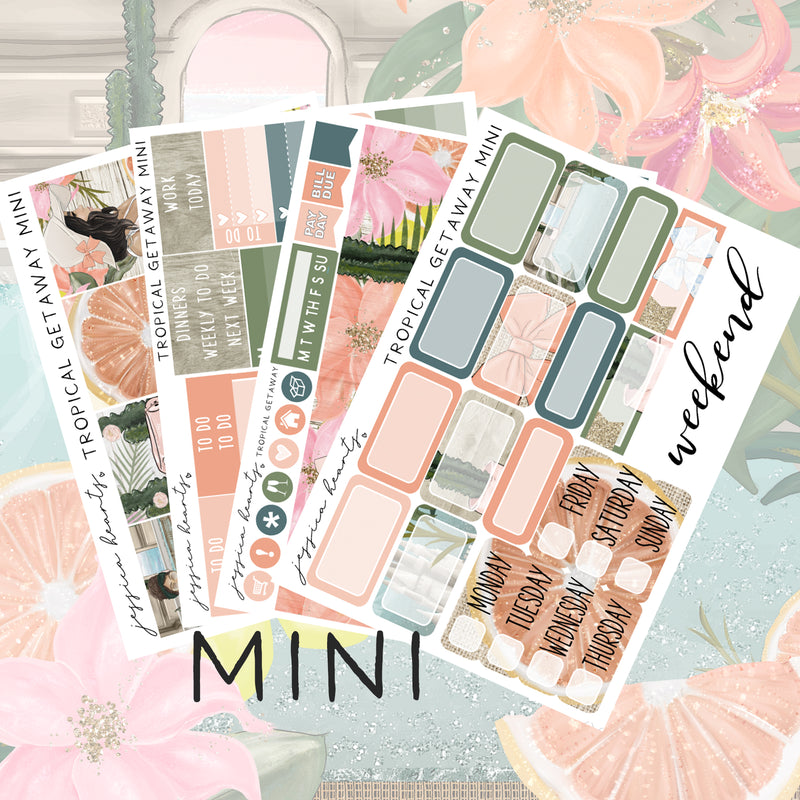 Tropical Getaway MINI Sticker Kit