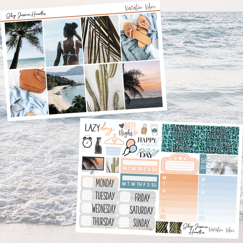 Vacation Vibes Weekly Sticker Kit