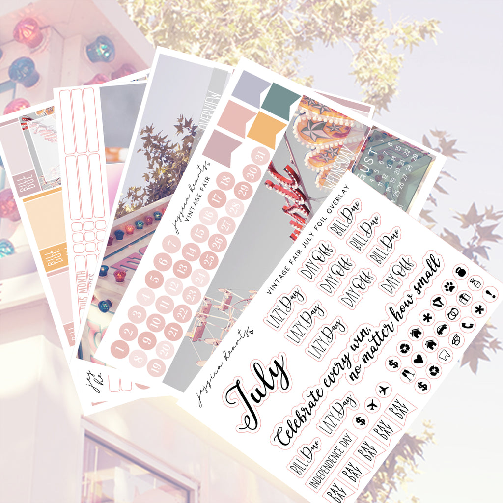 Vintage Fair BLANK July 2020 Monthly Kit + Foil Overlay