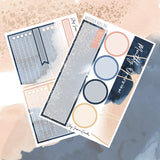 Watercolor July Notes Page Kit