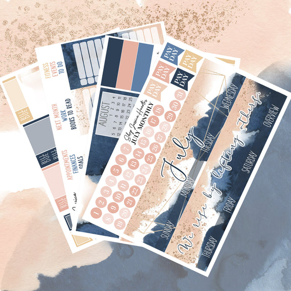 Watercolor July Monthly Kit