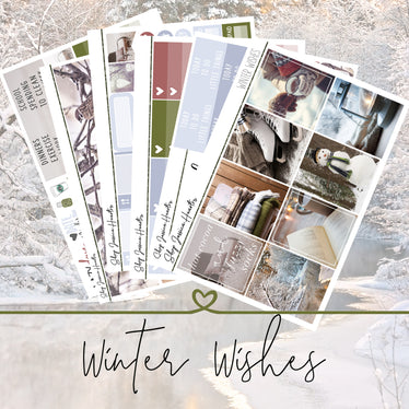Winter Wishes Weekly Sticker Kit,  - Jessica Hearts