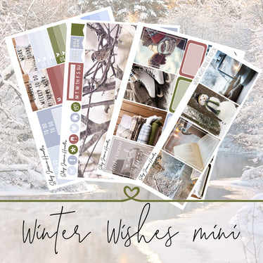 Winter Wishes Mini Weekly Sticker Kit,  - Jessica Hearts