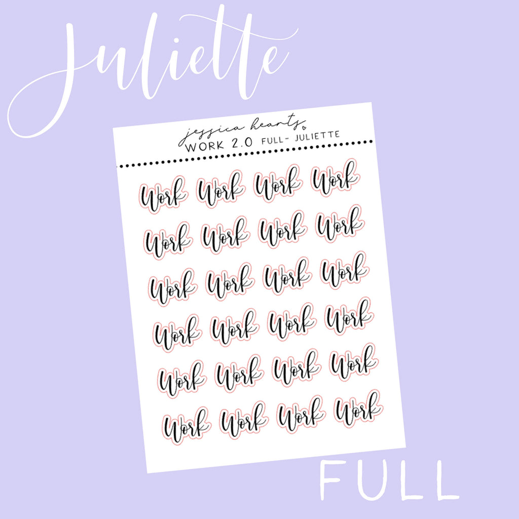 Foil Work Juliette -Full Sheet Stickers (Transparent)