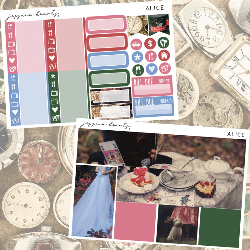 Alice Weekly Sticker Kit