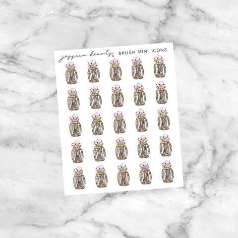 Pink Lemonade Foil Overlay Sticker Sheet (Transparent)