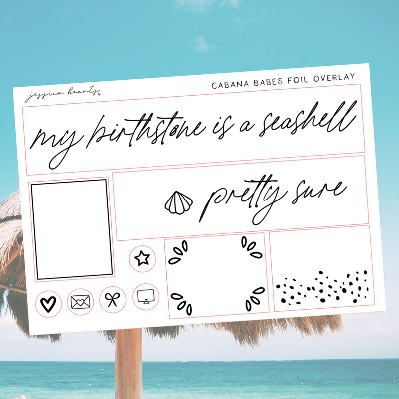 Cabana Babes Foil Overlay Sticker Sheet (Transparent)