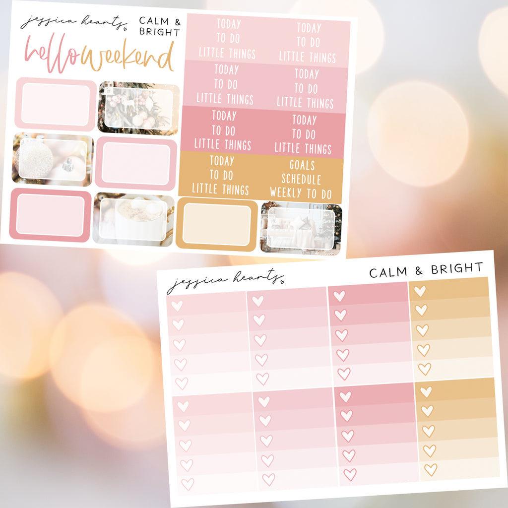 Calm & Bright Weekly Sticker Kit